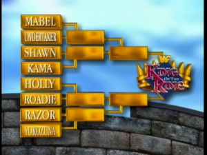 Here are the final 1995 KOTR brackets heading into the tournament.