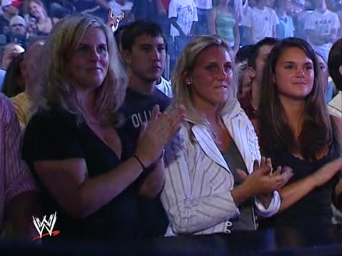 Hey look, it's future WWE Women's champion Charlotte! What a difference ten years makes, huh? And is that Richie Steamboat behind her too?